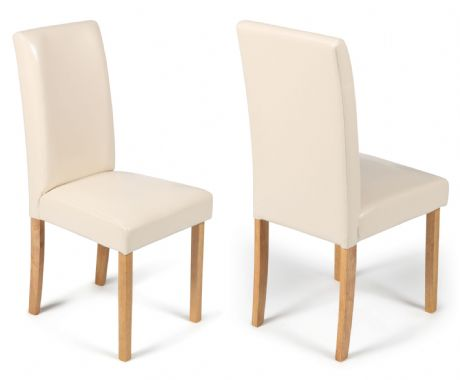 Torino Cream Faux Leather Dining Chairs  1/2 price Sale Now On Your Price Furniture